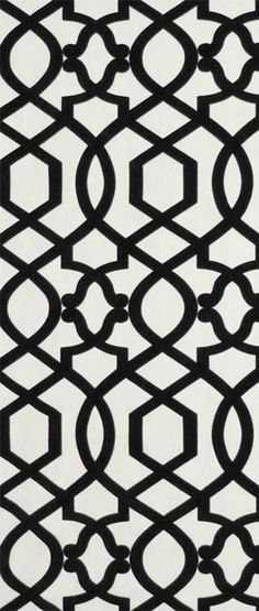 Iman Sultana Lattice Noir black Fabric  $23.95  per yard