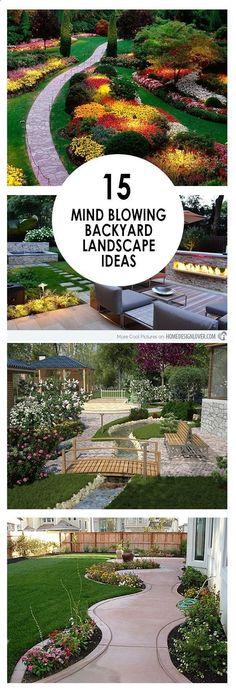 Backyard landscaping, landscape inspiration, landscape ideas, DIY landscaping, popular pin, gardening, outdoor living, outdoor entertainment. #LandscapingPlans