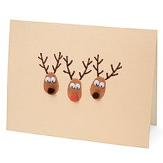 Thumb print reindeer (inspiration for thumbprint moose)