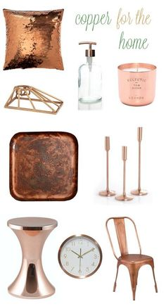 copper accents are on trend for fall and a gorgeous choice for the kitchen find - Copper Home Decor
