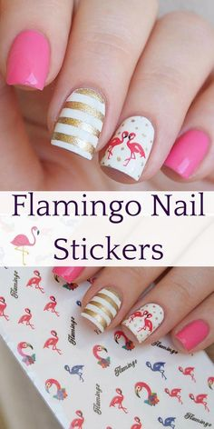 I have a flamingo obsession at the moment and absolutely love these flamingo nail stickers. Pink Flamingo Party, Flamingo Nails, Pink Flamingos, Matte Nails, Acrylic Nails, Vacation Nails, Winter Nail Art, Nail Stickers, Cool Nail Art