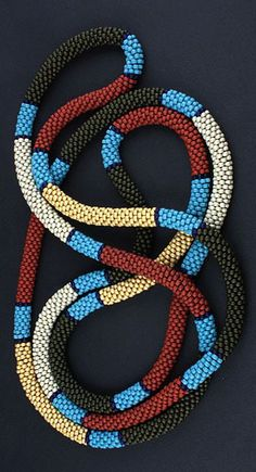 Bead Crochet Coral Snake Rope by DorothySiemens on Flickr | Purely Inspiration