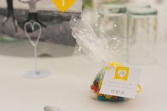 Homely DIY Yellow Wedding Jelly Bean Favours  http://www.glweddingphotography.co.uk/