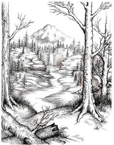 landscape drawings DeviantArt is the worlds largest online social community for artists and art enthusiasts, allowing people to connect through the creation and sharing of art. Easy Pencil Drawings, Pencil Drawings Of Nature, Landscape Pencil Drawings, Landscape Sketch, Nature Drawing, Art Drawings Sketches, Mountain Landscape Drawing, Nature Sketches Pencil, Drawing Drawing