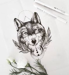 Wolf sketch for today