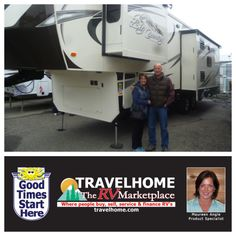 Congratulations to Terry & Marion on the purchase of their Big Country 3150RL #fifthwheel from Maureen! #bigcountryrv #camping #Travel #Travelhome