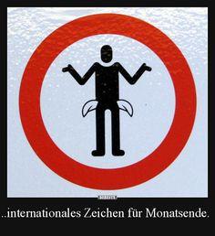 ..internationales Zeichen für Monatsende.