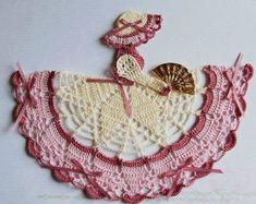 Theme Crinoline Lady Hand Crochet Doily Victorian Theme Crinoline Lady Hand Crochet Doily by designedbyl Victorian Theme Crinoline Lady Hand Crochet Doily by designedbyl Thread Crochet, Filet Crochet, Crochet Motif, Diy Crochet, Crochet Designs, Hand Crochet, Crochet Stitches, Crochet Granny, Crochet Dollies