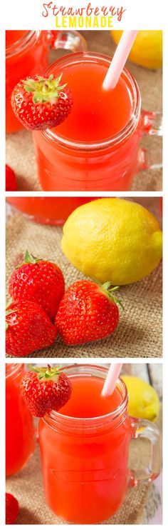 This Strawberry Lemonade is simple to make and SO refreshing on these long, warm days. Juicy strawberries are pureed and mixed with a simply syrup and fresh lemon juice to create this flavour packed Summer drink.