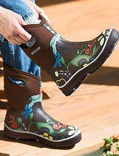 These fun floral rain boots from Hunter are perfect for tackling