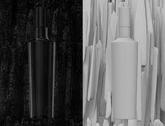 Black bottle 3d model