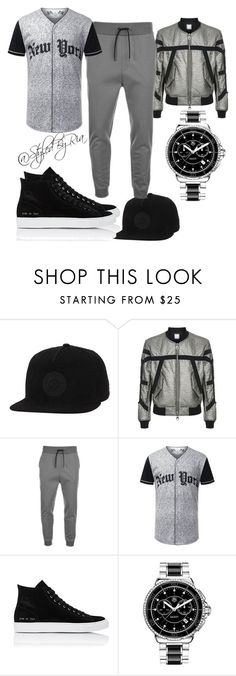 """""""grey for men"""" by stylebyria ❤ liked on Polyvore featuring Converse, Wooyoungmi, HUGO, Common Projects, Tag Heuer, mens, men, men's wear, mens wear and male"""