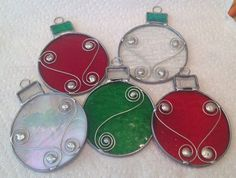 Stained glass Christmas Ornament by LeslyesGlassHut on Etsy