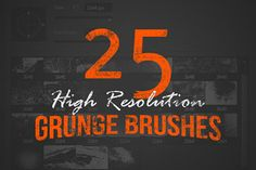 25 High Resolution Grunge Brushes