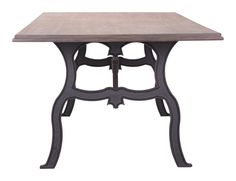 Bellevue Dining Table Distressed Natural Wrought Iron Console Table, Dining Room, Dining Table, Outdoor Tables, Outdoor Decor, Wooden Puzzles, Home Improvement, Outdoor Furniture, Metal