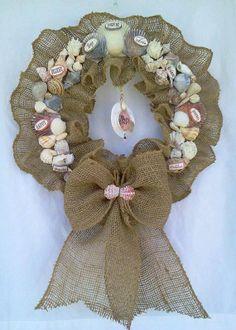 Items similar to Gypsy Soul Beachy Burlap Wreath on Etsy - Wreath Ideen Burlap Crafts, Wreath Crafts, Diy Wreath, Diy Crafts, Christmas Mesh Wreaths, Christmas Angels, Christmas Decorations, Christmas Ornaments, Diwali Decoration Items