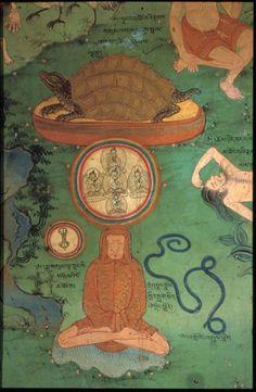 Tibet: Lhukang Temple, Lhasa (Yoga Murals) Himalayan Art: Item No. Tempera, Tantra Art, Tibet Art, Fresco, Mahayana Buddhism, Gautama Buddha, Buddhist Art, Sacred Art, Ancient Art