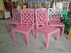 A Vintage Furniture Boutique Tropical Design, Beach Design, Tropical Decor, Colorful Furniture, Vintage Furniture, Outdoor Furniture Sets, Outdoor Decor, Palm Beach Regency, Furniture Boutique