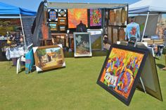 Oil on canvas paintings for sale at the San Felipe Blues and Arts Fiesta March 28th - 29th, 2014 #sanfelipe #sanfelipebluesandarts