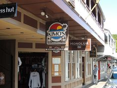 Front Street in Lahaina on Maui is home to great shops and resturants.  Kimo's is one of my favorites!
