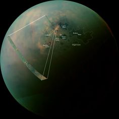 Cassini's Stunning View of Titan's Great Lakes: Big Pic : DNews