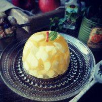 レシピあり!シャリシャリ角切りりんごゼリー♪ | 手作り料理写真と簡単レシピでつながるコミュニティ ペコリ by Ameba(アメーバ)