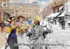 """Adult Coloring Book (24 pages 8""""x11""""/A4) Paris Life Belle..."""