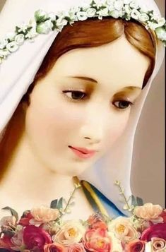 Mary Jesus Mother, Blessed Mother Mary, Mary And Jesus, Blessed Virgin Mary, Santa Maria, Dove Pictures, Images Of Mary, Jesus Face, Mama Mary