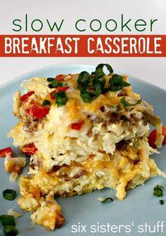Slow Cooker Sausage Breakfast Casserole – Six Sisters' Stuff