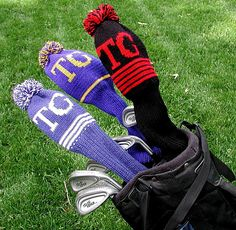 Personalized Golf Club Covers - Set of 3 Golf Club Head Covers, Golf Club Sets, Golf Clubs, Golf Drivers, Golf Accessories, Gloves, Knitting, Trending Outfits, Crochet
