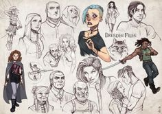 The Dresden Files - character designs