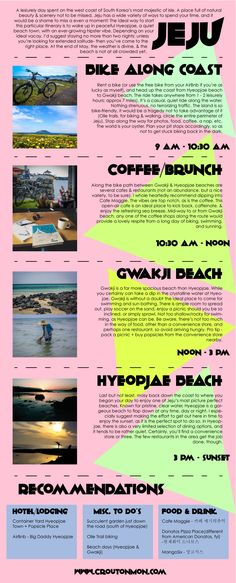 Jeju Itinerary, Hyeopjae Beach & Gwakji Edition - An Infographic from croutonMon