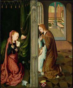 De verkondiging aan Maria, Meester van de Virgo inter Virgines, 1470 - 1500   Museum Boijmans Van Beuningen