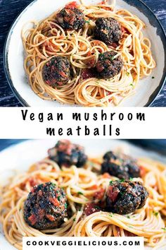 Completely meatfree, these mushroom meatballs are packed full of flavour. Perfect with pasta for a vegan or vegetarian dinner. #vegan #vegetarian #mushroommeatballs #veganmeatballs #vegetarianmeatballs #vegandinners Autumn Recipes Vegetarian, Vegetarian Dinners, Vegan Dinner Recipes, Vegan Vegetarian, Vegan Meals, Hidden Vegetable Recipes, Mushroom Meatballs, Vegetarian Meatballs, Vegetable Puree