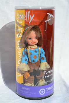 HAPPY HALLOWEEN Tommy is a SCARECROW Kelly doll 2002 Mattel Barbie NRFB