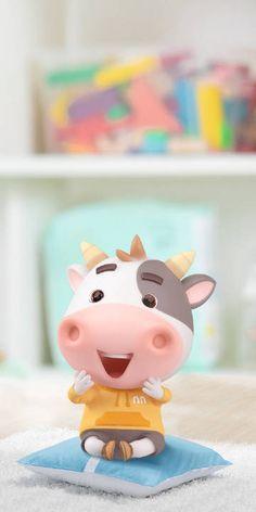 Watercolor Wallpaper, I Wallpaper, Animated Cow, Cute Piglets, Panda Art, Baby Cows, Kawaii Doodles, Cute Cows, Cow Art