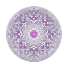 abstract chic girly pattern pastel purple damask 7 inch paper plate