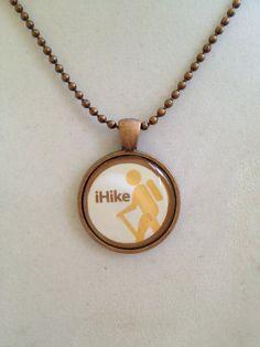 Hiking Pendant Necklace by joytoyou41 on Etsy, $20.00