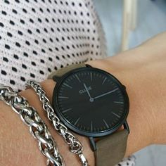 Armcandy  #CLUSE#clusewatches#watch#armygreen#black#style