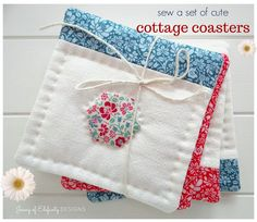 Sew a set of Cottage Coasters...