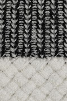 Monochrome knit detail with contrasting textures   woven panel  knitwear   textiles for fashion  702244f6e4
