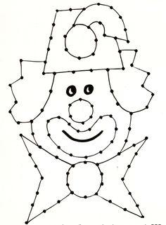 clown borduren