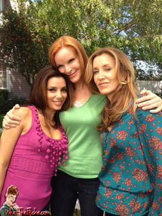 Desperate Housewives Marcia Cross, Eva Longoria, and Felicity Huffman  taken 4/17/12