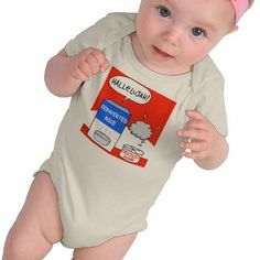 Christian baby onesie makes a perfect humorous shower or birthday gift for a Christian baby. Hallelujah!  Comes on other shirts, too, at my Zazzle shop. #evangelical #humorous #cute #babies $26.60 Look for moneysaving SALES codes daily at the top of each page at my shop--> http://www.zazzle.com/swisstoons?rf=238575599056059205=zBookmarklet
