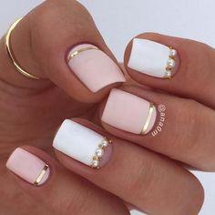 Nails:Άσπρα – ροζ νύχια: 50 υπέροχες ιδέες μανικιούρ ||AllAboutBeauty
