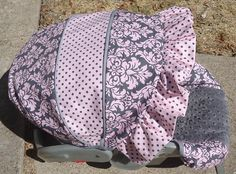 Pink and Grey Damask Car Seat Cover. $70.00, via Etsy.