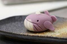 (161) クジラさん Kujira-san - Whale   japanese desserts   Pinterest