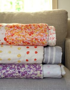 Lovely fabrics. Make it feel almost summery in the gloomy bay.