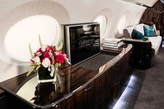 Wallpaper* hops on a Gulfstream private jet to see how the design process is coming along for the new and models Luxury Interior, Interior Design, Luxury Jets, Airplane Design, Cabin Interiors, Higher Design, The Masterpiece, Private Jet, Stone Flooring