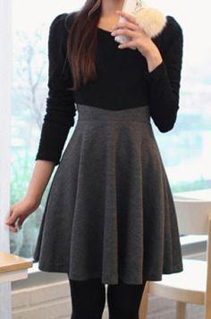 »Stylish Scoop Neck Color Block A-Line Long Sleeve Women's Dress« #fashion #fashionandaccessories #twinkledeals